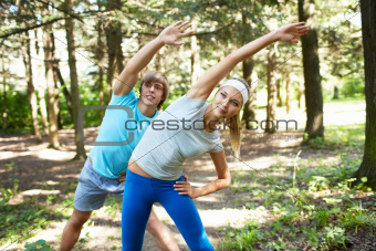 Gymnastics outdoors