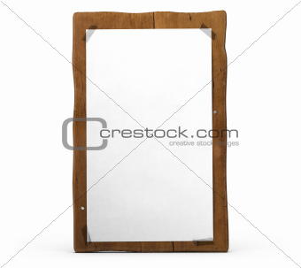 blank vertical wooden sign for communication