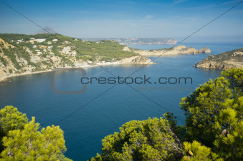 Javea coastline