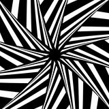 Rotation illusion. Abstract design.