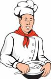 Chef Cook Baker Mixing Bowl Cartoon