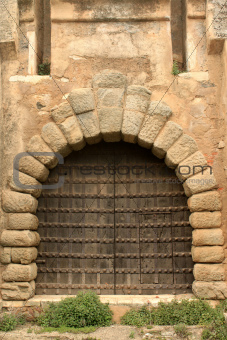 Door of castle in Vila Vicosa