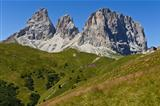 the Group of Sassolungo, Dolomites - Italy