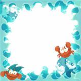 The cartoon frame