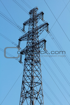 solitary electricity pylon