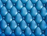 Blue button-tufted leather background