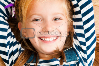 face smiling girl