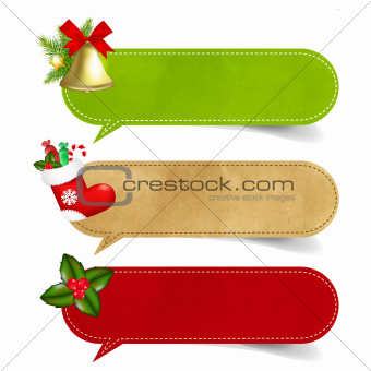 Christmas Speech Bubble Set
