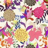 Seamless multicolor floral pattern