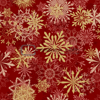 Seamless snowflakes pattern