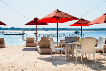 Cafe on a tropical beach 