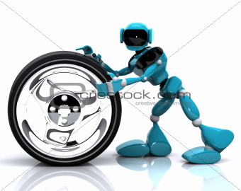 robot and wheel
