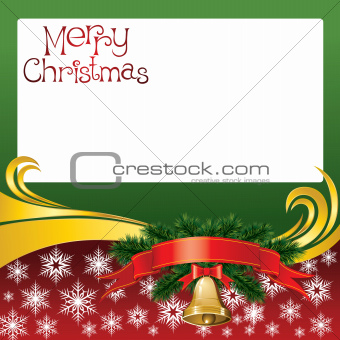 2012 vector christmas card with bells