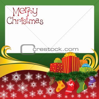 2012 vector christmas card with socks