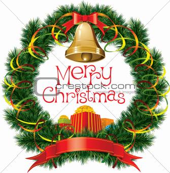 Christmas Bells with Christmas Tree