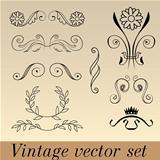 Vintage vector set