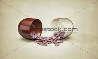 pills heart shaped 