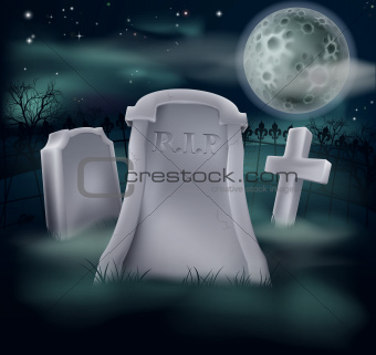 Spooky grave