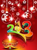 abstract new year background with deepak