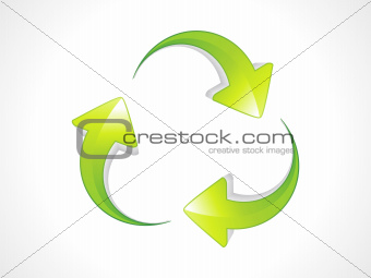abstract recycle icon