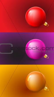 Christmas Cards Set with Ball