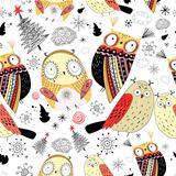Texture funny owls