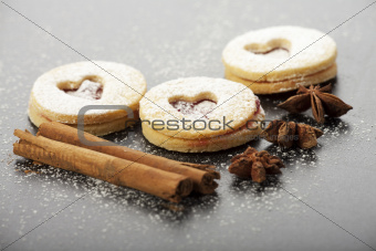 christmas cookies and sugar powder