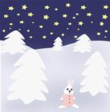 Rabbit in Winter Landscape