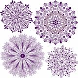 Set christmas filigree snowflakes