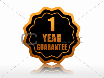 one year guarantee starlike label