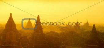 Bagan panorama sunrise
