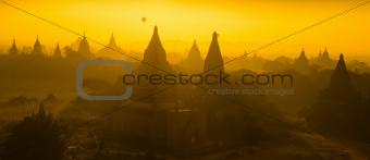 Panorama view of Bagan