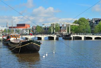 Amsterdam.  Skinny Bridge