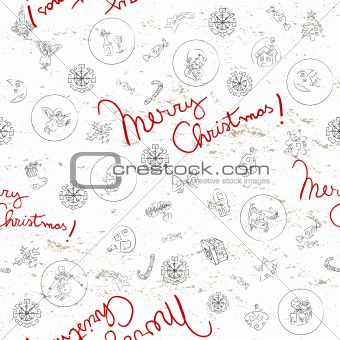 Christmas doodles pattern