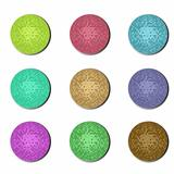 disco ball buttons