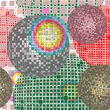 Disco ball retro pattern