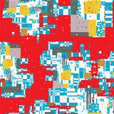 Pixel city pattern