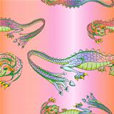 silk dragons pattern
