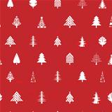 white christmas tree pattern