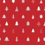 white christmas tree pattern