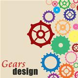 Gears background design