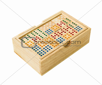 Wooden Domino in box