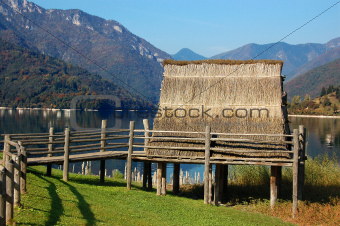 Pile-work - Lake Ledro - Italy