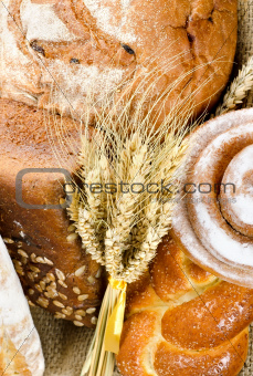 An assortment of bakery fresh bread