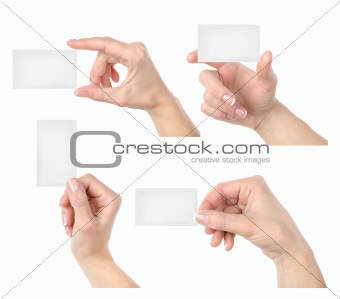 Business card collage isolated