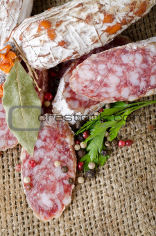 Salami and spices