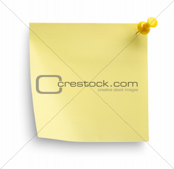 Yellow notebook isolated