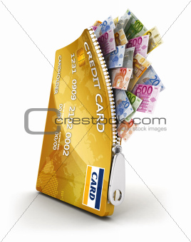 3d open credit card