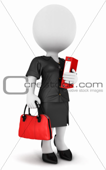 3d white people businesswoman