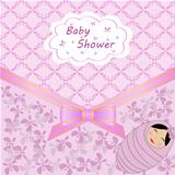 vector card celebration with baby shower